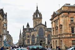 Edinburgh, Mening van de stad, verscheidene monumenten en Kasteel, Royalty-vrije Stock Afbeelding