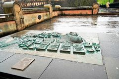 Edinburgh, Mening van de stad, verscheidene monumenten en Kasteel, Stock Foto's
