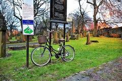 Edinburgh, Mening van de stad, verscheidene monumenten en Kasteel, Stock Foto