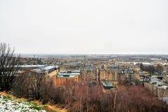 Edinburgh, Mening van de stad, verscheidene monumenten en Kasteel, Royalty-vrije Stock Afbeeldingen