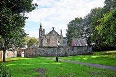 Edinburgh, Mening van de stad, verscheidene monumenten en Kasteel, Royalty-vrije Stock Foto