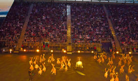 Edinburgh Military Tattoo. A typical ballade during the celebration of scottish military tattoo royalty free stock photo