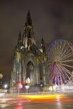 Edinburgh Monument at night Royalty Free Stock Photos