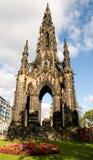edinburgh monument scott Royaltyfri Foto