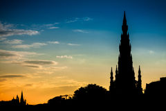 edinburgh monument scott Arkivbild