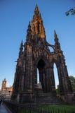 edinburgh monument scott Royaltyfri Bild