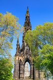 edinburgh monument scott Arkivfoto