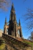 edinburgh monument scott Royaltyfria Bilder