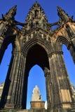 edinburgh monument scott Arkivbilder
