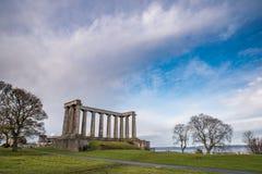 edinburgh monumentnational royaltyfri foto
