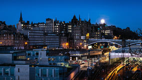 Edinburgh Moonlight Stock Images