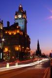 Edinburgh nachts Lizenzfreies Stockbild