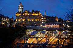 Edinburgh at night Stock Image