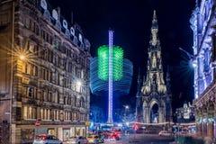 Edinburgh by night royalty free stock photography