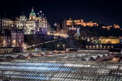 Edinburgh by night stock photography