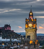 Edinburgh at night Royalty Free Stock Photography