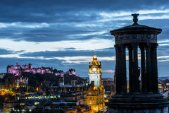Edinburgh at night Stock Photography