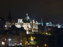 Scotland, Edinburgh, night view of the city Royalty Free Stock Photo