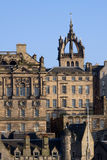 Edinburgh Old Town Architecture. With the crown spire of historic St Giles Cathedral visible in the background Royalty Free Stock Image