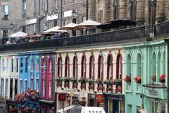 Edinburgh, Old Town. Edinburgh is the capital city of Scotland, renowned for its heritage, culture and festivals. Situated in Scotland`s Central Belt it lies on Royalty Free Stock Photo
