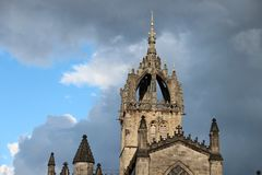 Edinburgh, Old Town. Edinburgh is the capital city of Scotland, renowned for its heritage, culture and festivals. Situated in Scotland`s Central Belt it lies on Royalty Free Stock Images