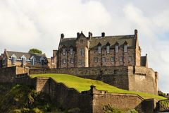 Edinburgh, Old Town, the Castle. Edinburgh is the capital city of Scotland, renowned for its heritage, culture and festivals. Situated in Scotland`s Central Belt Stock Photos