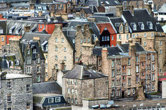 Edinburgh old town. Detail of some old buildings seen in Edinburgh, Scotland Royalty Free Stock Photo