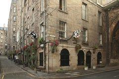 Edinburgh Old Town EDINBURGH. AUGUST 29: Cow gate on August 29 2013 in Edinburgh Scotland Royalty Free Stock Photos