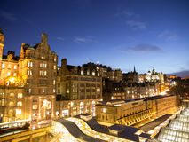 Edinburgh Old Town At Night Royalty Free Stock Image