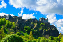 Edinburgh old town on the rocks, Scotland, Uk. Stock Photo