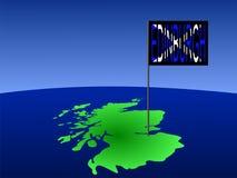 Edinburgh op de kaart van Schotland Royalty-vrije Stock Afbeelding