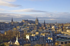Edinburgh-Panorama Lizenzfreies Stockfoto