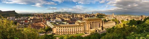 Edinburgh Panorama Royalty Free Stock Images