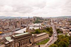edinburgh panorama- sikt Arkivbilder