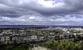 Edinburgh - panorama, a view from Edinburgh Castle. UK Stock Photography