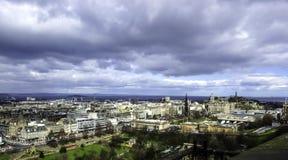 Edinburgh - panorama, a view from Edinburgh Castle. UK Royalty Free Stock Photos