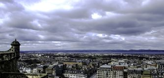 Edinburgh - panorama, a view from Edinburgh Castle. UK Stock Images