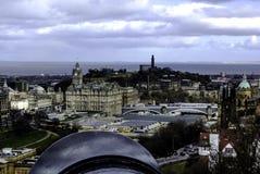 Edinburgh - panorama, a view from Edinburgh Castle. UK Stock Photo