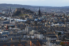Edinburgh panoramic view Royalty Free Stock Photo