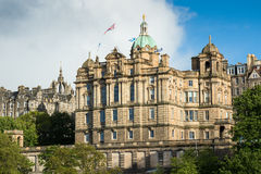 Edinburgh parliment house in town center Royalty Free Stock Photos