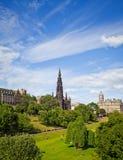 Edinburgh Princes Gardens Stock Photos