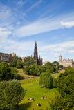 Edinburgh Princes Gardens Stock Image