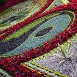 Edinburgh Princes Gardens Flower Clock Stock Image
