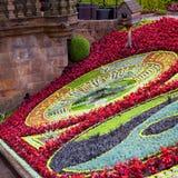 Edinburgh Princes Gardens Flower Clock Stock Photo