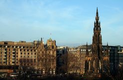 Edinburgh Princes street. Stock Photo