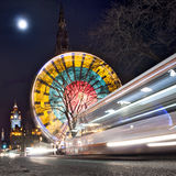 Edinburgh Princes street at night Stock Photography