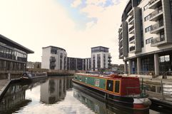 The Edinburgh Quay at the Union Canal Terminus. The Edinburgh Quay at the terminus of the Union canal Royalty Free Stock Photography