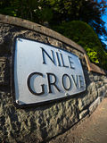 Edinburgh real estate; Nile Grove. Highly desirable streets in which to buy or rent property in the city of Edinburgh. Property investments in Edinburgh have Stock Photography