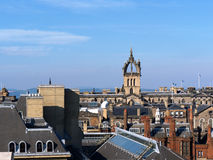 An Edinburgh Roofscape. An Edinburgh (Scotland) roofscape, seen from the roof garden/terrace of the National Museum of Scotland. It shows the crowned spire of St Stock Images