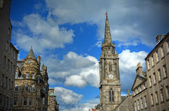 Edinburgh Royal Mile. A view of the Royal Mile in Edinburgh, Scotland Royalty Free Stock Image